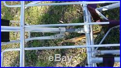 Vintage Ferno Washington Aluminum Portable Stretcher Gurney With Restraints