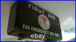 Vintage First Aid Kit WWII Us Army Medical JEEP Original Equipment