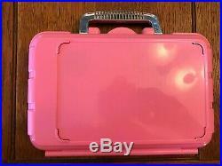 Vintage Fisher Price Girl's Pink Toy Doctor Set Kit Medical Equipment EXCELLENT