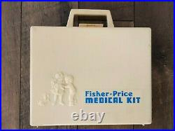 Vintage Fisher Price Toy Doctor Set Kit Medical Equipment 1977 EXCELLENT