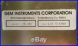 Vintage GIA GEM INSTRUMENTS CORP JEWLER GEMOLOGY MICROSCOPE 1x 3x Model 791