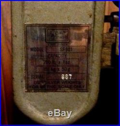 Vintage GOLD BRANDMODEL SP901PLATFORM BEAM SCALE200 LB X 1OZ CAPACITYantique