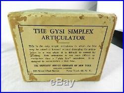 Vintage GYSI ARTICULATOR Vintage Dental Equipment Vintage Dentistry w Box Manual