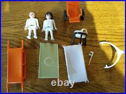 Vintage Geobra Playmobil 1974 medical equipment hospital accessories stretcher