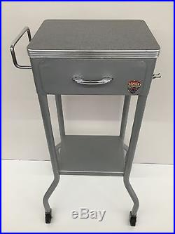 Vintage Gomco Industrial Mid Century Stand Medical Cabinet Dental Equipment