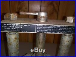 Vintage HANAU Hydrolic Press Teledyne Dental buffalo NY dentist dentures