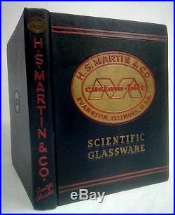 Vintage H S Martin & Co Scientific Glassware Cat. 48Serial #43261st Ed 1946 HC