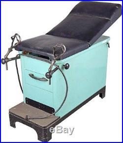 Vintage Hamilton 9860 Medical Patient Exam Table +Stirrups Gynecology M133494