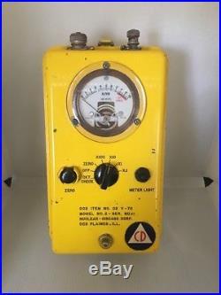Vintage Historical OCD Item No CD V-711 Remote Meter Model No. 2 Serial No. 63