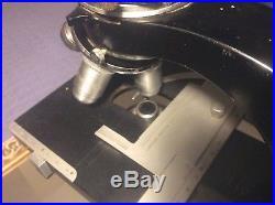 Vintage LEITZ WETZLAR Binocular Microscope No. 698188 GERMANY untested 4