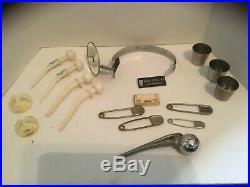 Vintage LOT of Medical Equipment PROSTHETICS Reflector Risdon Zimaloy Vollrath