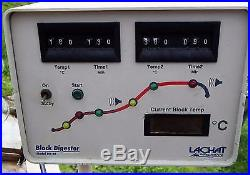 Vintage Lachat BD-46 Block Digester Lab Equipment withtest tubes and racks