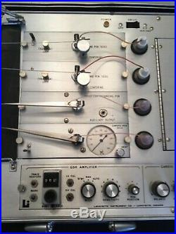 Vintage Lafayette Instrument Polygraph Lie Detector in Case, 76057