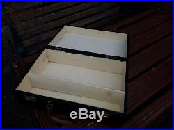 Vintage Large 1960/1970's First Aid Box/Case Wooden Black Medical Equipment
