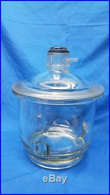 Vintage Large Pyrex Vacuum Chamber Degassing Desiccator Pot 4 Quart Capacity