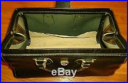 Vintage Leather Doctor's Bag With Equipment and Military Medic Pouch