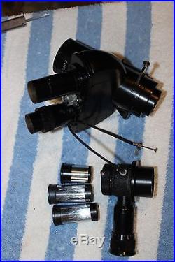 Vintage Leitz Ortholux Microscope Trinocular Head 1.25x/170 1x infinity with Eye