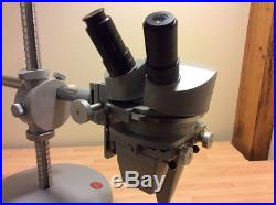 Vintage Leitz Wetzlar Stereo Microscope withBoom stand and Dovetail Objectives