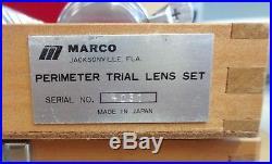 Vintage Marco Optical Optometrist Perimeter Trial Lens Set Complete 227 Lenses