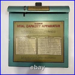 Vintage McKesson Vital Capacity Apparatus Medical Equipment 1930s Lung Capacity