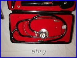 Vintage Medical Case Containing Stethoscope, Otoscope, Opthalmoscope Etc Unused