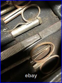 Vintage Medical Doctor Instruments Equipment in Original Case/Bag Steel