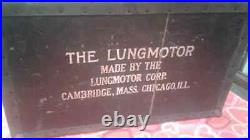 Vintage Medical Equipment 1920's Lungmotor withbox & instructions