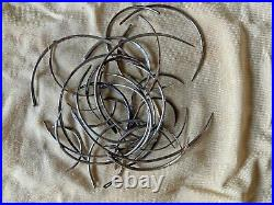 Vintage Medical Equipment Large lot Suture Needles and wound clips