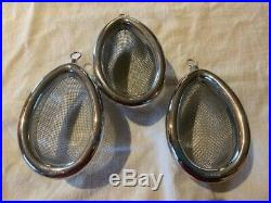 Vintage Medical Equipment Set of Three Ether Masks for Anesthesia