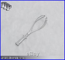 Vintage Medical Obstetrical Forceps Surgical DDP Instruments
