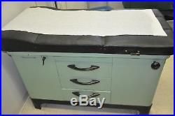 Vintage Metal Mint Green (Gynecologist) Exam Table Medical