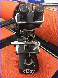 Vintage Nikon Microscope With Dual View Heads
