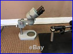 Vintage Nikon Nippon Kogaku Binocular Microscope Made in Tokyo Japan & Stand 10x