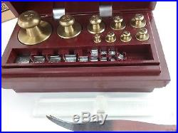 Vintage OHAUS Scale Sto-A-Weigh Calibration Weight Set Class-P-Metric in Box