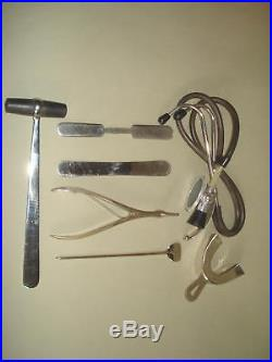 Vintage Old Doctor's Bag with Medical Equipment & Instuments inside