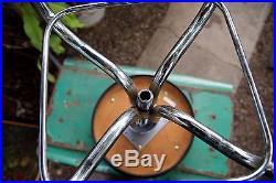 Vintage Pedigo Chrome Adjustable Black Stool