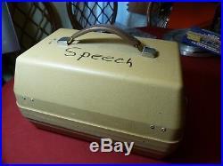 Vintage Phonic Ear Binaural Speech Trainer Portable