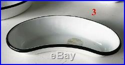 Vintage Porcelain Enamel Emesis Basin Kidney Shaped Pan Medical Equipment