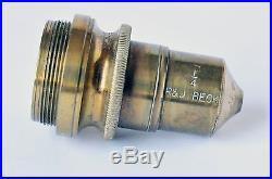 Vintage R & J. BECK Microscope Objective Lens 1/4 Rare