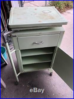 Vintage Rolling Medical Cart/Cabinet