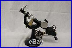 Vintage Scarce Tokyo Kogaku Microscope, Unusual Curved Design and Swivel