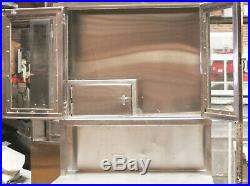 Vintage Serv-Queen Medical Stainless Steel Glass Cabinet Narcotics 36 x 16 x 79