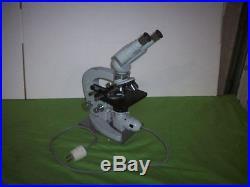 Vintage Tiyoda Tokyo 51717 Laboratory Microscope +4x Objective Lens +2x Eyepiece