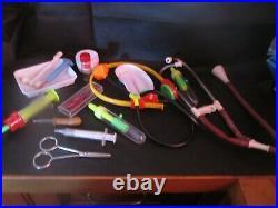Vintage Toy medical / Hospital / Doctors equipment syringes, stethoscope etc