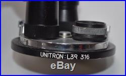 Vintage Unitron L3R-316 Microscope Turret with 3 TL80 Objectives 0.5X, 1X & 2X