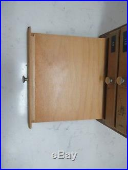 Vintage University Lab Wooden Microscope Slide Cabinet 12 Drawer 100 Slot Trays