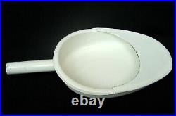 Vintage enamel iron bed pan Hospital medical equipment Chamber pot 60s