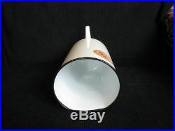 Vintage enamel medical douche can Hospital equipment irrigator New paper label