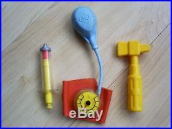 Vintage fisher price medical equipment stethoscope syringe