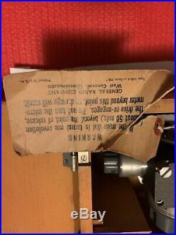 Vintage medical equipment 1690-A Dielecttic Sample Holder RARE Antique Estate